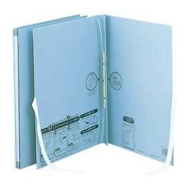 (まとめ) のび-るファイル エスヤード 紙表紙 外ひも付(背幅17-117mm) AE-50FH-10 ブルー 1冊入 【×5セット】