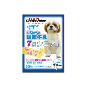 (まとめ)ドギーマンハヤシ わんちゃんの国産牛乳 シニア用 200ml 【犬用・フード】【ペット用品】【×24セット】