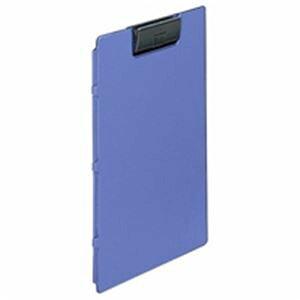 (業務用5セット) LIHITLAB クリップファイル F-2650-8 A4E 青 10冊