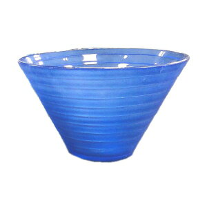 【8個入り】ガラス製コンポート/花器 【ブルー】 直径15cm×高さ9.5cm 穴無 『ピラミッド15』 〔園芸 ガーデニング用品〕