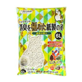 (まとめ)CMミュウサンド消臭を極めた紙製の砂6L【ペット用品】【×7セット】
