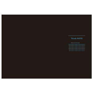 (まとめ) 高橋政史xNakabayashi ロジカルシンクノート A3・ヨコ/5mm方眼ブラック・ブルー罫/40枚 RP-A301-DB【×10セット】