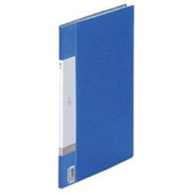 (業務用200セット) LIHITLAB クリアブック/クリアファイル リクエスト 【A4/タテ型】 固定式 10ポケット G3200-8 青