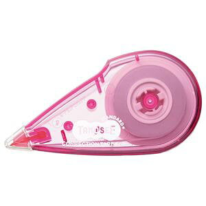 (まとめ) TANOSEE 修正テープ 5mm幅×8m ピンク 1個 【×40セット】