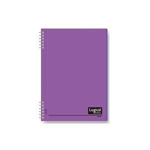 (業務用セット)ナカバヤシ スイング・ロジカルノート/Wリング B5 A罫 PP表紙 バイオレット NW-B50-V【×5セット】