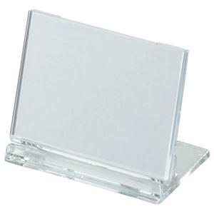 (まとめ) 光 カード立て 可動式 W65×H45mm 透明 UC3-1 1個 【×80セット】