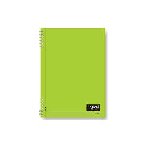 (業務用セット)ナカバヤシ スイング・ロジカルノート/Wリング B5 A罫 PP表紙イエローグリーン NW-B50-YG【×5セット】