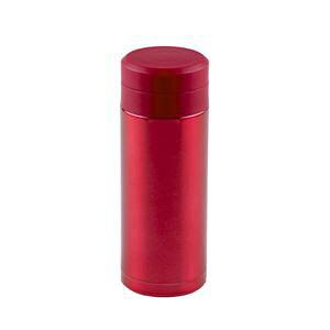 【30個セット】 スリム 水筒/ステンレスボトル 【200ml レッド】 スクリュー栓 真空断熱構造 抗菌剤プラス オミット