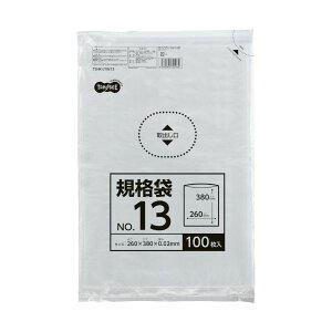(まとめ) TANOSEE 規格袋 13号0.02×260×380mm 1セット(1000枚:100枚×10パック) 【×10セット】