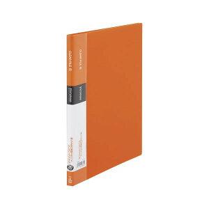 (まとめ) キングジム シンプリーズ クリアーファイル A4タテ型 20ポケット オレンジ シンプルデザイン 【×20セット】