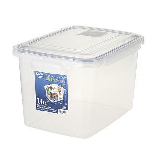(まとめ) 保存容器/ロック式ジャンボケース 【16L】 銀イオン(AG+)配合 抗菌仕様 日本製 キッチン用品 【×12個セット】