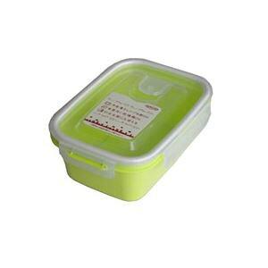 (まとめ) 保存容器/スマートフラップ&ロックス 【660ml M 1P グリーン】 電子レンジ・冷凍庫可 日本製 【×90個セット】