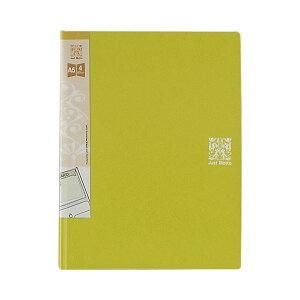(まとめ)ライオン事務器 ポッケdeファイル A5 4ポケット ライムグリーン JD-127 1冊 【×100セット】