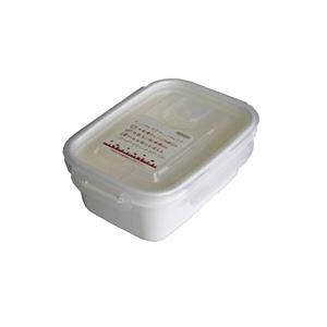 (まとめ) 保存容器/スマートフラップ&ロックス 【660ml M 1P ホワイト】 電子レンジ・冷凍庫可 日本製 【×90個セット】