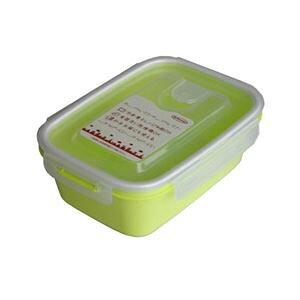 (まとめ) 保存容器/スマートフラップ&ロックス 【900ml L 1P グリーン】 電子レンジ・冷凍庫可 日本製 【×60個セット】