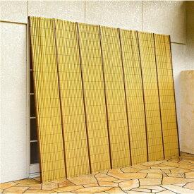 竹垣風 たてす/サンシェード 【約184×184cm】 正方形 洗える 〔ベランダ テラス 窓際〕【代引不可】