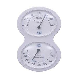 (まとめ)タニタ 温湿度計 ホワイトTT-509-WH 1個【×10セット】