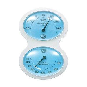 (まとめ)タニタ 温湿度計 ブルーTT-509-BL 1個【×10セット】