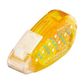 (まとめ) コクヨ テープのりドットライナープチプラス しっかり貼るタイプ スター柄 7mm×10m タ-D916-07 1個 【×30セット】