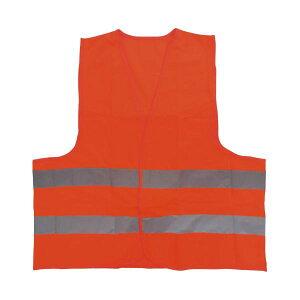 (まとめ)ミドリ安全 高視認性安全ベスト 蛍光オレンジ(×10セット)