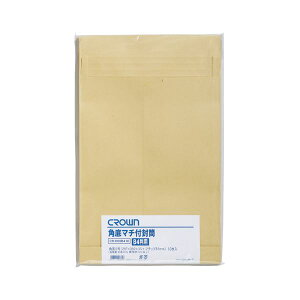 (まとめ) クラウン クラウン角底マチ付き封筒 角0 10枚【×20セット】