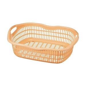 (まとめ)アサヒ化成 サンテール 脱衣かご #50 ペールオレンジ K-0250 1個 【×10セット】