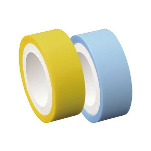 (まとめ)ヤマト メモック ロールテープフィルムタイプ つめかえ用 15mm幅 イエロー&パールブルー RF-15H-6FN 1パック(2巻)【×20セット】