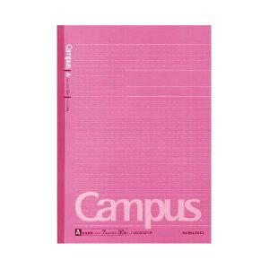 (まとめ)コクヨ キャンパスノート(ドット入り罫線・カラー表紙)A4 A罫 30枚 ピンク ノ-203CAT-P 1セット(5冊)【×5セット】