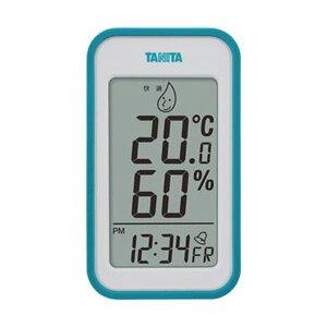 (まとめ)タニタ デジタル温湿度計 ブルーTT559BL 1個【×5セット】