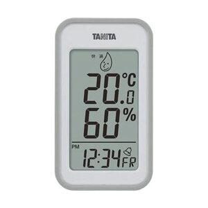 (まとめ)タニタ デジタル温湿度計 グレーTT559GY 1個【×5セット】