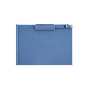 (まとめ) TANOSEE クリップボード A4ヨコ ブルー 1枚 【×30セット】
