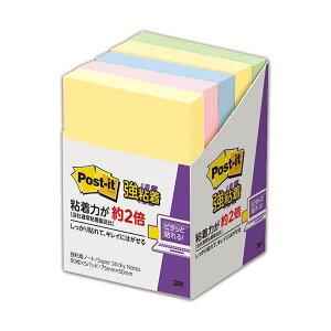(まとめ) 3M ポスト・イット 強粘着 ノート75×50mm パステルカラー 4色混色 656-5SSAP 1パック(5冊) 【×5セット】