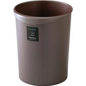 ゴミ箱/ダストボックス 【8L フレクション 丸形 パールショコラ 3個セット】 取っ手付き くずかご くず入れ 〔リビング〕