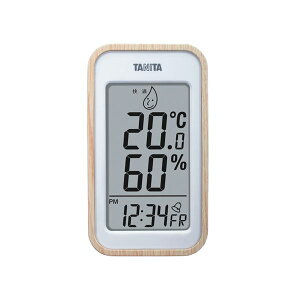 TANITA デジタル温湿度計 ナチュラル 100-05G【代引不可】