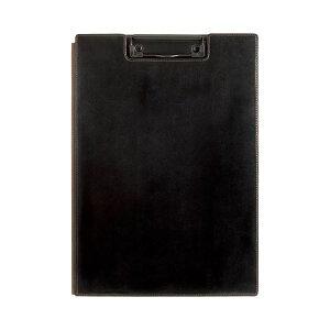 (まとめ) キングジム レザフェス クリップボード A4 黒 1932LF 1枚 【×10セット】