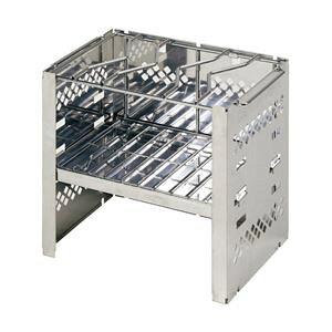 【6個セット】 【キャプテンスタッグ】 バーベキューコンロ/調理器具 【B5型】 幅25.5cm 収納袋付き 『カマド スマートグリル』