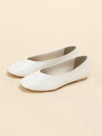 [Rakuten Fashion]フラットシューズ LOWRYS FARM ローリーズファーム シューズ フラット ホワイト ブラウン ブラック ベージュ グレー