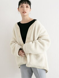 [Rakuten Fashion]ボアブルゾン LOWRYS FARM ローリーズファーム コート/ジャケット ブルゾン ホワイト グリーン ブルー ベージュ ブラウン【送料無料】
