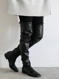 [Rakuten Fashion]ストレッチロングブーツ LOWRYS FARM ローリーズファーム シューズ ロングブーツ ブラック【送料無料】