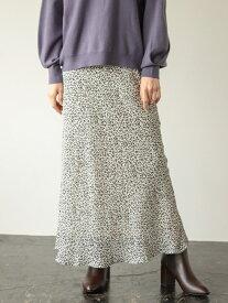 [Rakuten Fashion]アニマルキリカエフレアスカート LOWRYS FARM ローリーズファーム スカート フレアスカート ベージュ ブラック ブラウン【送料無料】