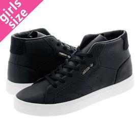 【毎日がお得!値下げプライス】adidas SLEEK MID W アディダス スリーク ミッド ウィメンズ CORE BLACK/CORE BLACK/CRYSTAL WHITE ee4727