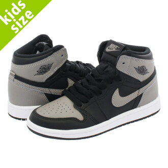 LOWTEX BIG-SMALL SHOP  NIKE AIR JORDAN 1 RETRO HIGH OG BP Nike Air Jordan 1  nostalgic high OG BP BLACK MEDIUM GREY WHITE aq2664-013  0c2ce200edb37