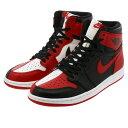 4b546308e275ae NIKE AIR JORDAN 1 RETRO HIGH OG Nike Air Jordan 1 nostalgic high OG  BLACK WHITE UNIVERSITY RED