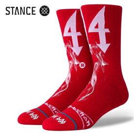STANCE SOCKS TRIPPIE スタンス ソックス トリッピー RED a545a20tri【定形外郵便発送・時間指定不可】