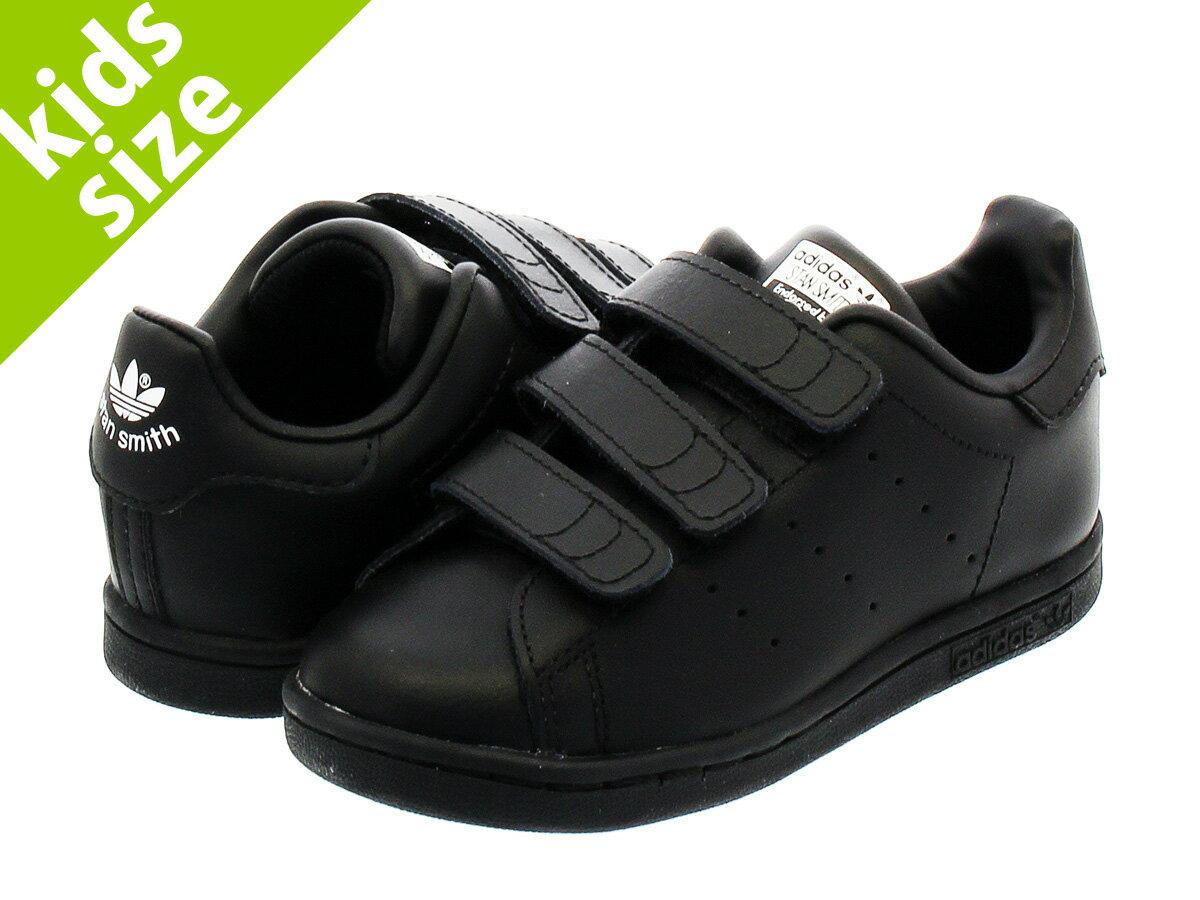 【毎日がお得!値下げプライス】【キッズ サイズ】【11cm-16.5cm】 adidas STAN SMITH CF I 【adidas Originals】 アディダス スタンスミス CF I BLACK/BLACK/RUNNING WHITE
