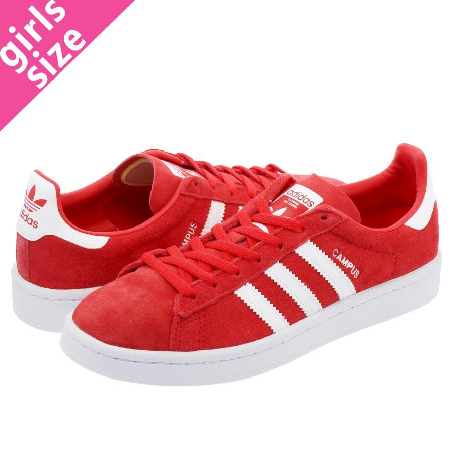 【毎日がお得!値下げプライス】 【大人気の女の子サイズ♪】 adidas CAMPUS W 【adidas Originals】 アディダス ウィメンズ キャンパス RAY RED/RUNNING WHITE/RUNNING WHITE