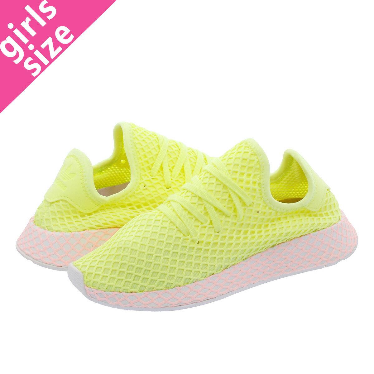 【大人気の女の子サイズ♪】 adidas DEERUPT RUNNER W アディダス ウィメンズ ディーラプト ランナー GLOW/GLOW/CLEAR LILAC b37599