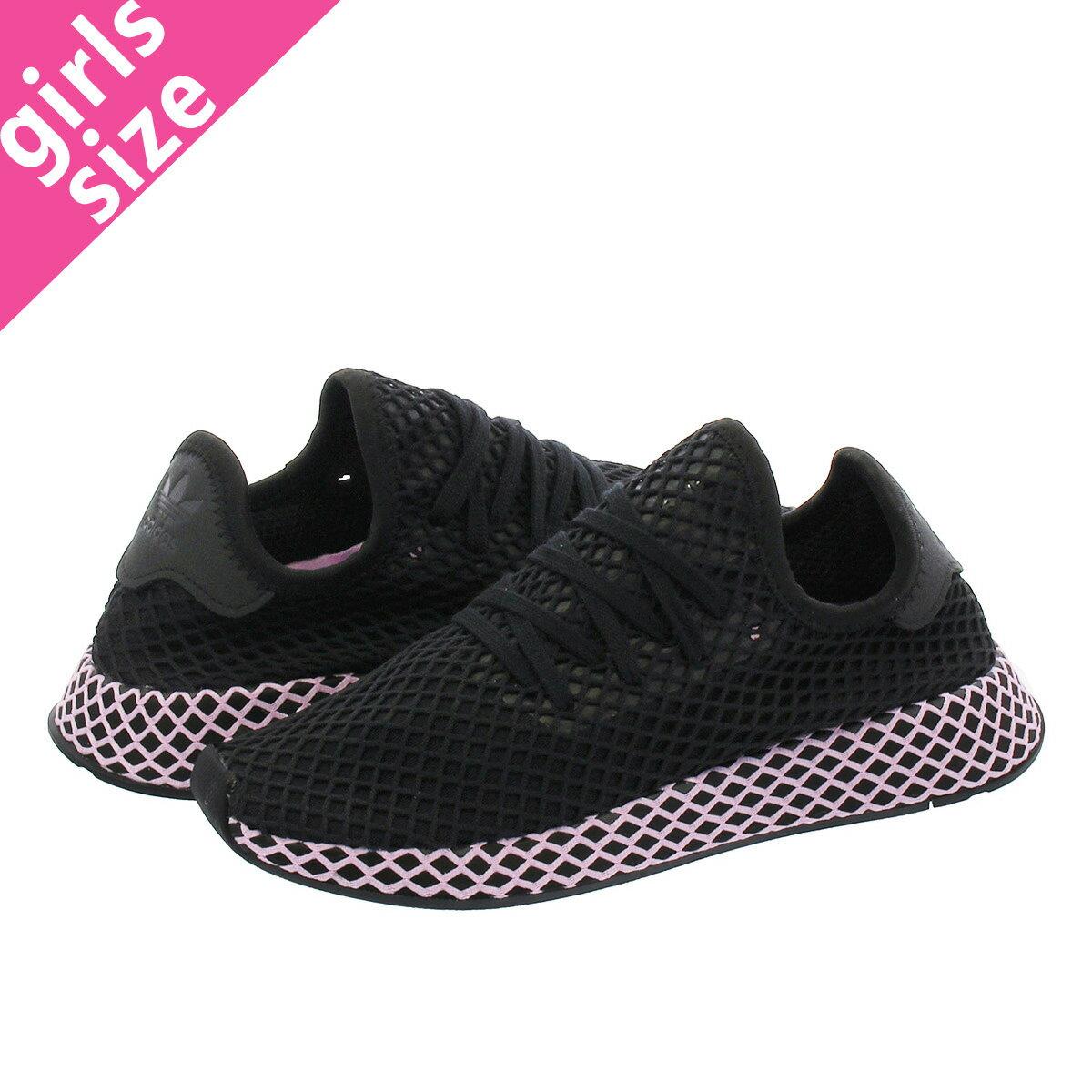 【大人気の女の子サイズ♪】 adidas DEERUPT RUNNER W アディダス ウィメンズ ディーラプト ランナー CORE BLACK/CORE BLACK/CLEAR LILAC b37602