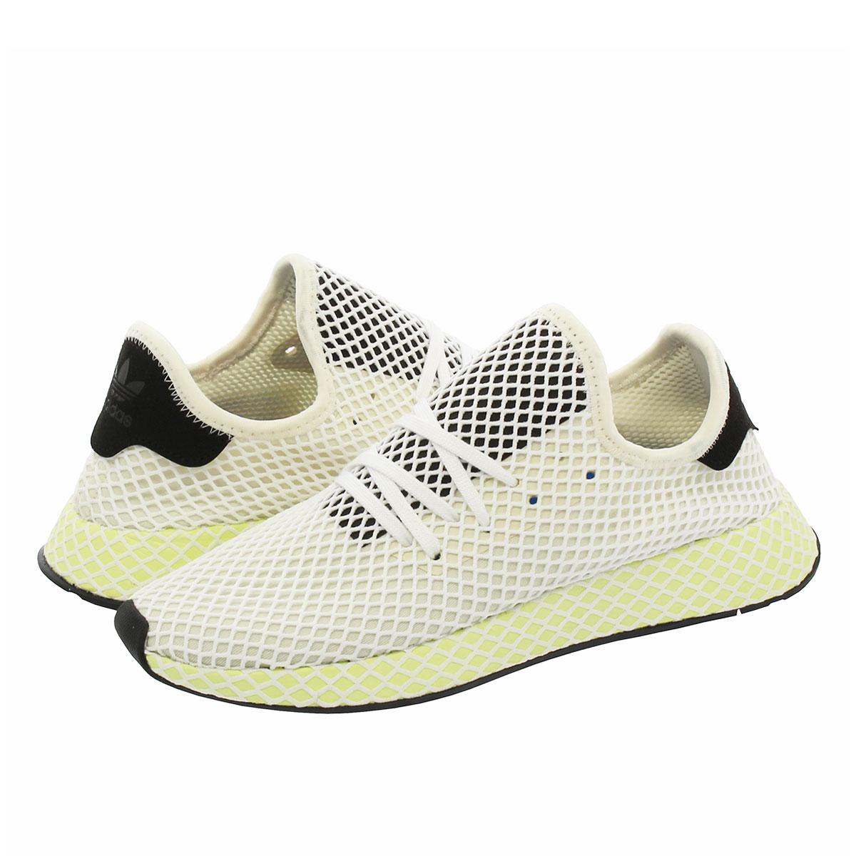 【半期に一度の決算セール】 adidas DEERUPT RUNNER アディダス ディーラプト ランナー CHALK WHITE/CORE BLACK