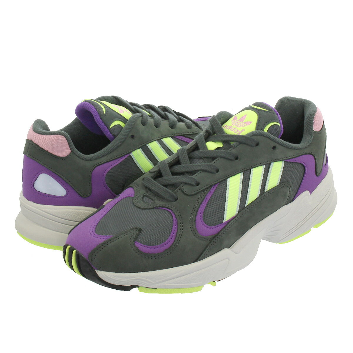 adidas YUNG-1 【adidas Originals】 アディダス ヤング 1 LEGEND IVY/HIGH RESO YELLOW/ACTIVE PURPLE bd7655